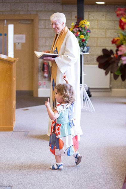 wedding ceremony dancing little girl