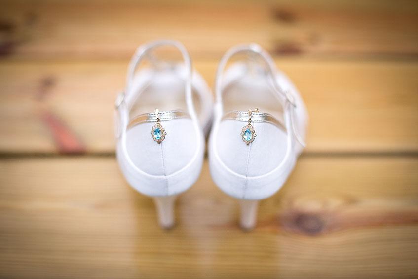 wedding shoes something blue diamond