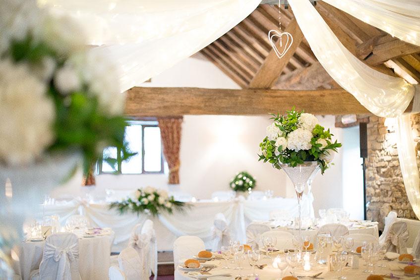 Hyde Bank Farm wedding venue dressed