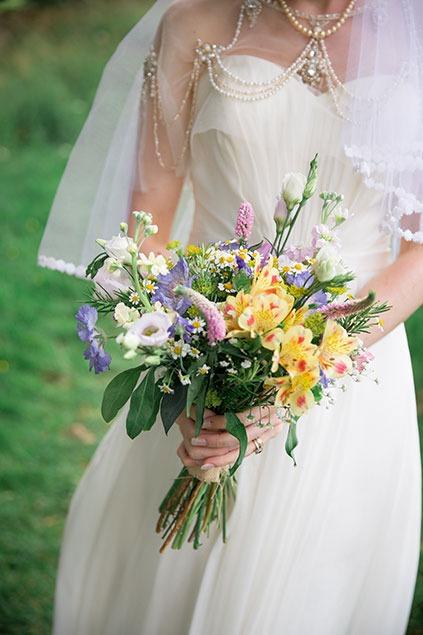 wildflower summer bouquet in yorkshire