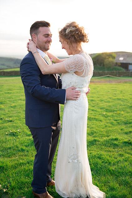 boho bride wedding dress