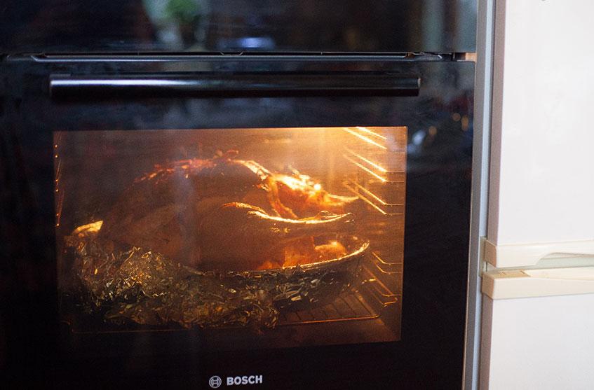 bosch oven cooking turkey christmas dinner
