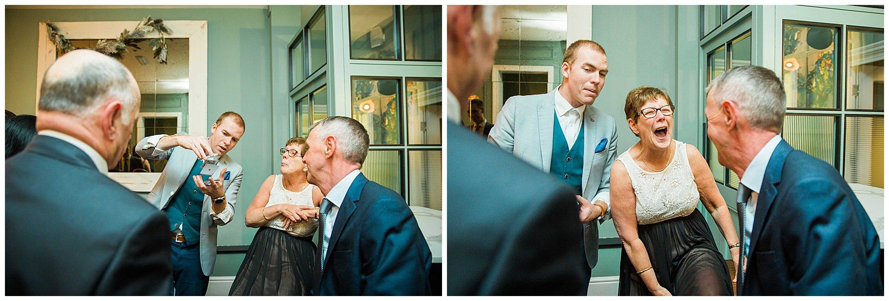 Sam Fitton Magician at Didsbury House Hotel Wedding
